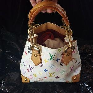 LOUIS VUITTON AUDRA TOP HANDLE BAG SMALL